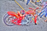 Hdr Posters - Custom Bike Poster by Jim Lepard