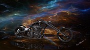 Louis Ferreira Art Digital Art - Custom Black Chopper by Louis Ferreira
