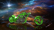 Louis Ferreira Art Digital Art - Custom Chopper by Louis Ferreira