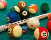 Billiard Digital Art Originals - Custom Cue by Frederick Kenney