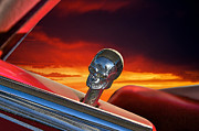 Chrome Skull Framed Prints - Custom Door Lock Detail Framed Print by Dave Koontz