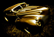 Gold Ford Prints - Custom Ford Roadster Print by Phil