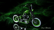 Louis Ferreira Art Digital Art - Custom Green Bobber by Louis Ferreira