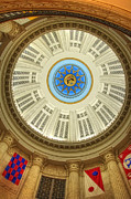 Custom House Tower Photos - Custom House Dome by Joann Vitali