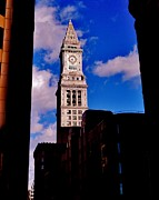 Custom House Tower Framed Prints - Custom House of Boston Framed Print by Benjamin Yeager