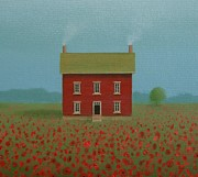 Farmhouse Paintings - Custom House Portrait by Sharon France