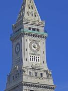 Barbara Mcdevitt Framed Prints - Custom House Tower Framed Print by Barbara McDevitt