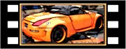 Custom Orange Sports Car Print by Danielle  Parent