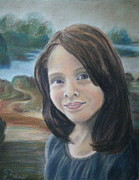 People Pastels Framed Prints - Custom Pastel Portraits Framed Print by Lisa Bane