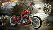 Louis Ferreira Art Digital Art - Custom Red Bobber by Louis Ferreira