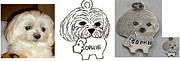 Tag Jewelry - Custom silver portrait dog tag by Michelle  Robison