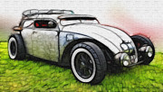 White Walls Framed Prints - Custom VW Bug Paint Framed Print by Steve McKinzie
