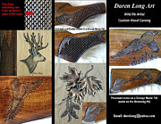 Deer Reliefs - Custom Wood Carving by Daren Long