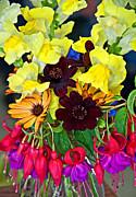 Cut Bouquet Of Beautiful Flowers Print by Valerie Garner