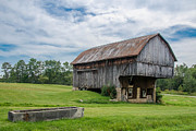 Pa Barns Prints - Cut Out Barn Print by Guy Whiteley