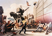 Thomas Benton Posters - Cut The Line Poster by Thomas Benton