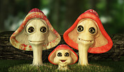 Liam Liberty - Cute and Whimsical Mushroom Family