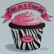 Cupcake Art Posters - Cute as a Cupcake Poster by Catherine Holman