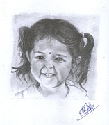 Reallism Art - Cute baby girl by Jijo Pappachan