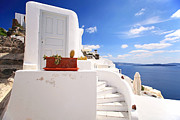 Stairs Prints - Cute building Print by Aiolos Greece Collection