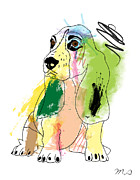 Dog Pop Art Digital Art - Cute Dog 2 by Mark Ashkenazi
