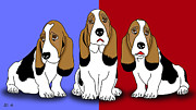 Cute Dogs 2 Print by Mark Ashkenazi