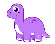 Brontosaurus Posters - Cute Illustration Of A Brontosaurus Poster by Stocktrek Images