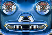 Childlike Metal Prints - Cute Little Car Faces Number 2 Metal Print by Carol Leigh