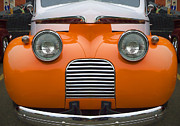 Childlike Posters - Cute Little Car Faces Number 5 Poster by Carol Leigh