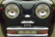 Childlike Posters - Cute Little Car Faces Number 6 Poster by Carol Leigh
