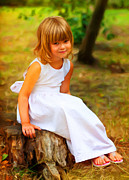 Sasa Prudkov - Cute little girl sitting...