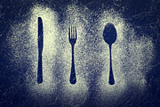 Kitchen Utensils Posters - Cutlery Series Poster by Christopher and Amanda Elwell