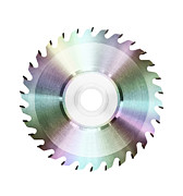 Circular Saw Digital Art Posters - Cutting Edge Music  Poster by Kitty Bitty
