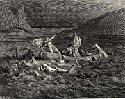Horror Digital Art - Cutting The Waves from Dantes Inferno by Gustave Dore