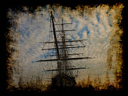 Clippers Prints - Cutty Sark-Ships of the Past Print by Val Brackenridge