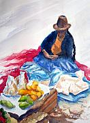 Peru Paintings - Cuzco Market by Marsha Elliott
