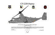 Edwards Digital Art - CV-22B Osprey 4941 by Arthur Eggers