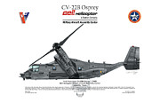Aircraft Artwork Framed Prints - CV-22B Osprey Framed Print by Arthur Eggers