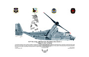 Edwards Digital Art - CV-22B Osprey Mojave Maude by Arthur Eggers