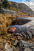 Rust Digital Art Posters - Cwmorthin Slate Quarry Poster by Adrian Evans