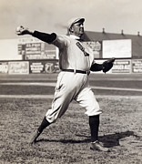 Cy Young Metal Prints - Cy Young - American League Pitching Superstar - 1908 Metal Print by Daniel Hagerman