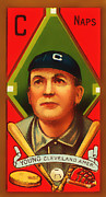 Cards Vintage Metal Prints - Cy Young Cleveland Naps Baseball Card 0838 Metal Print by Wingsdomain Art and Photography