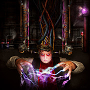 Electricity Photos - Cyberpunk - Mad skills by Mike Savad