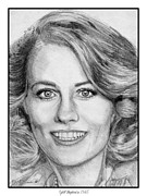 Shepherd Drawings - Cybill Shepherd in 1985 by J McCombie