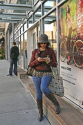 Texting Photo Prints - Cycle Chic Print by Frank Winters