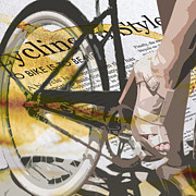 Sassan Filsoof Posters - Cycle Chic Poster by Sassan Filsoof