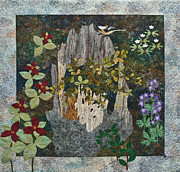 Fiber Art Posters - Cycle Of Life Poster by Patty Caldwell