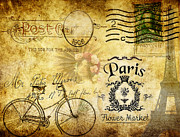 Paris Digital Art Prints - Cycle Through Time Print by Greg Sharpe