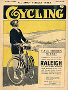 Cycling Drawings Framed Prints - Cycling 1922 1920s Uk Bicycles Framed Print by The Advertising Archives