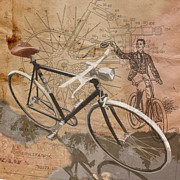 Sassan Filsoof Prints - Cycling Gent Print by Sassan Filsoof